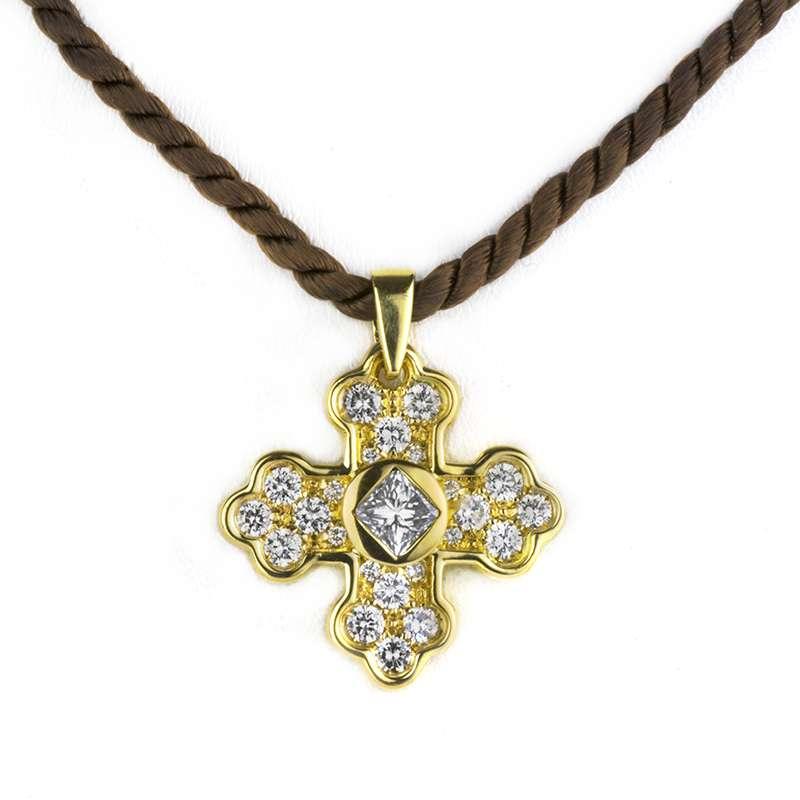 Marina B 18k Yellow Gold Diamond Set Pendant